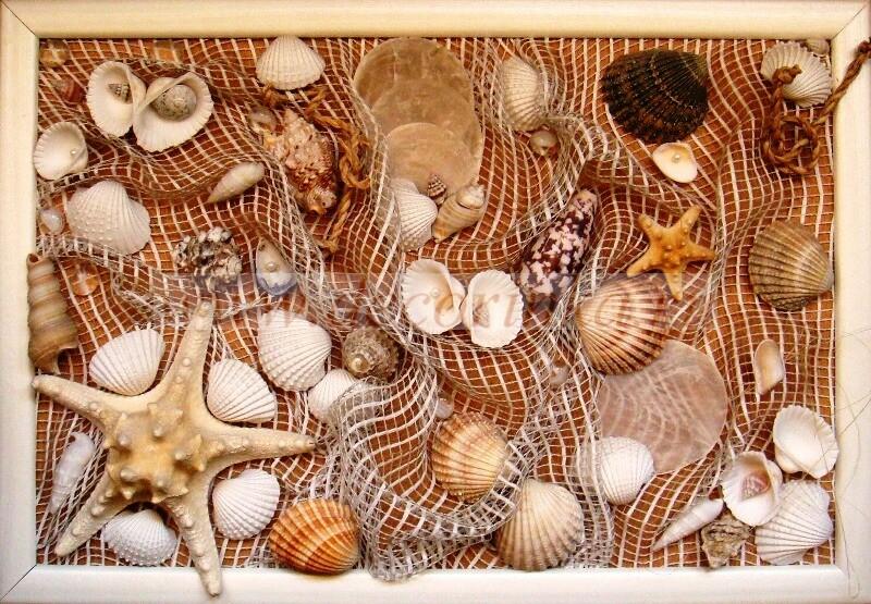 Как своими руками сделать картину из морских ракушек 83
